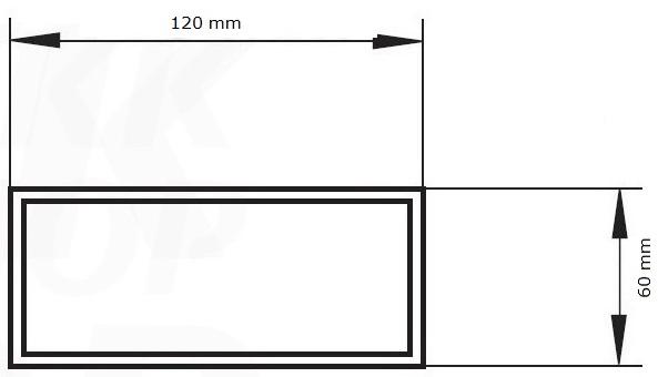 flachkanal system kunststoff abluft zuluft dunstabzugshaube 60x120 ebay. Black Bedroom Furniture Sets. Home Design Ideas