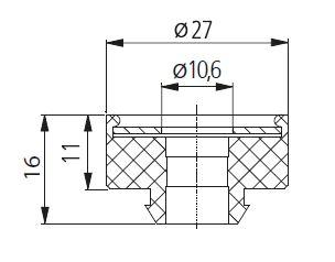 gummi metall puffer 1 90. Black Bedroom Furniture Sets. Home Design Ideas