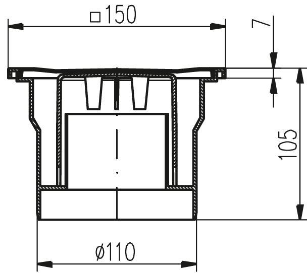 bodenablauf kellerablauf senkrecht duschablauf badablauf duschrinne dusche ebay. Black Bedroom Furniture Sets. Home Design Ideas