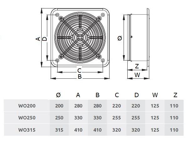 /Ø 200 mm Axial Ventilator Absaugl/üfter Absaugung IP44 WO Wand Fenster Gebl/äse L/üfter Industrie Abluft Zuluft Hochdruck Radiall/üfter Radialventilator Kunststoff