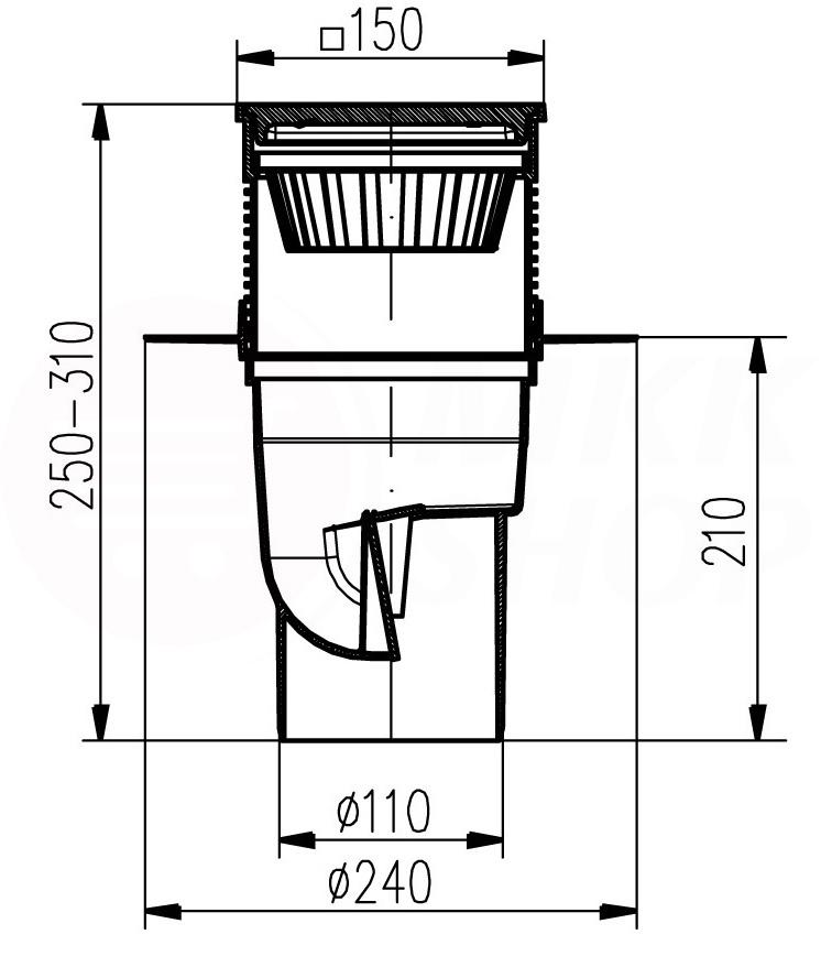 edelstahl kellerablauf hofablauf bodenablauf f r. Black Bedroom Furniture Sets. Home Design Ideas