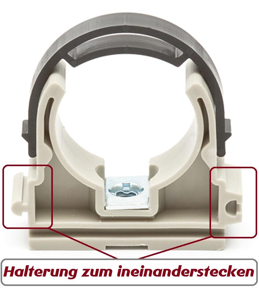rohrhalter rohrclip klammer rohrklemme rohrschelle. Black Bedroom Furniture Sets. Home Design Ideas