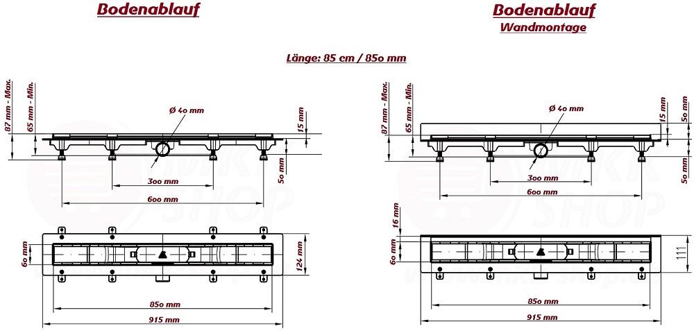 design dusch ablauf rinne ebenerdig flach edelstahl fliese geruch r ckstauklappe ebay. Black Bedroom Furniture Sets. Home Design Ideas
