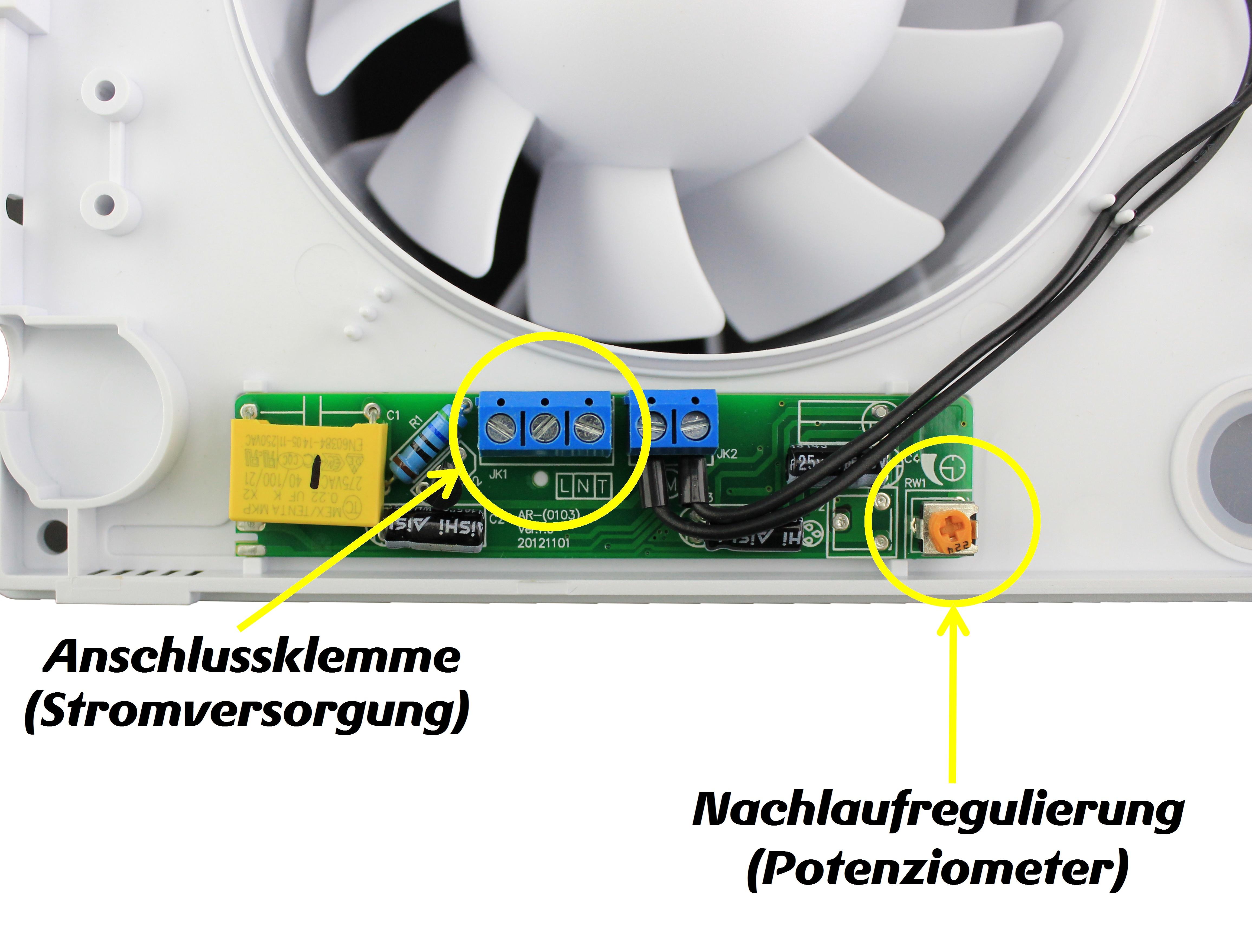 badventilator mit nachlauf timer wand ventilator bad l fter decke l fter leise ebay. Black Bedroom Furniture Sets. Home Design Ideas