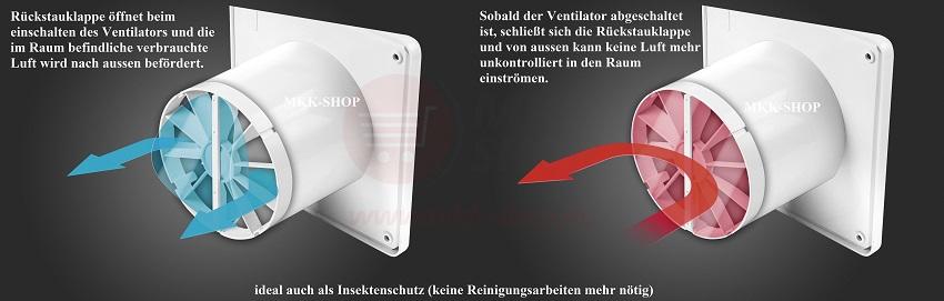 badl fter 100 125 mm leise stark wand deckenl fter bad ventilator wc k che wz ebay. Black Bedroom Furniture Sets. Home Design Ideas