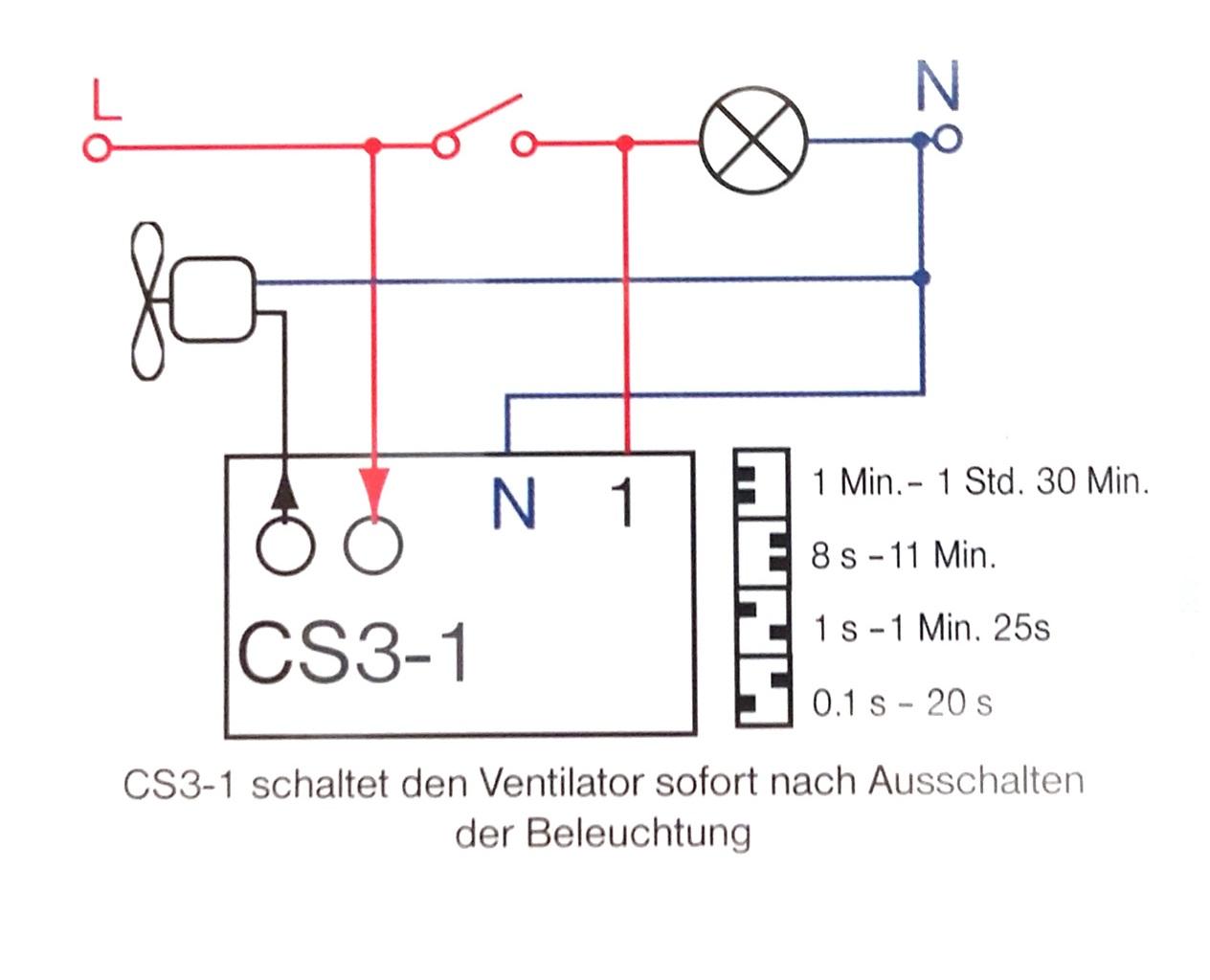Gut bekannt Zeitschalter Steuerung Ventilator Treppenbeleuchtung LW56