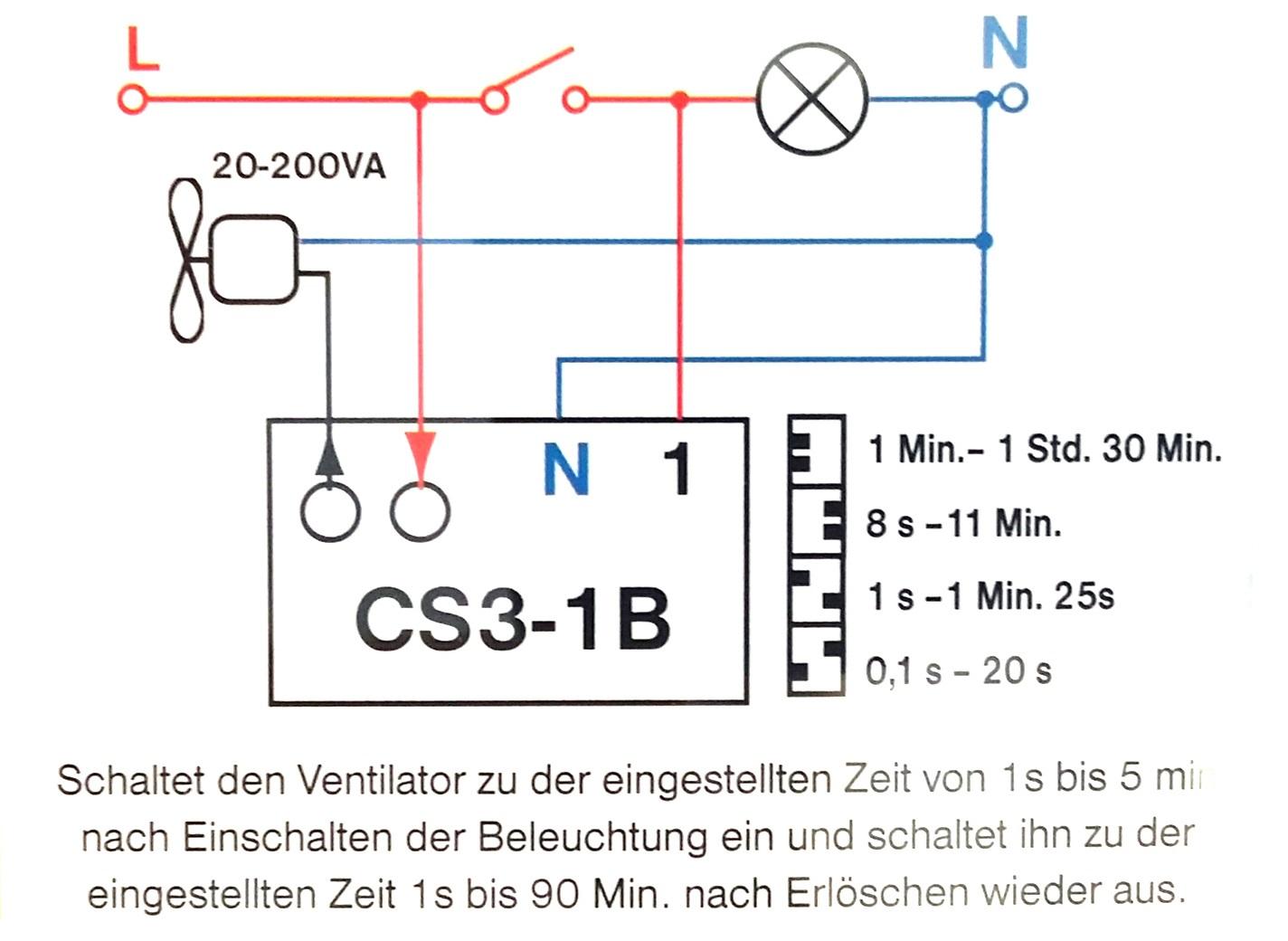 Bevorzugt Zeitschalter Steuerung Ventilator Treppenbeleuchtung VP97