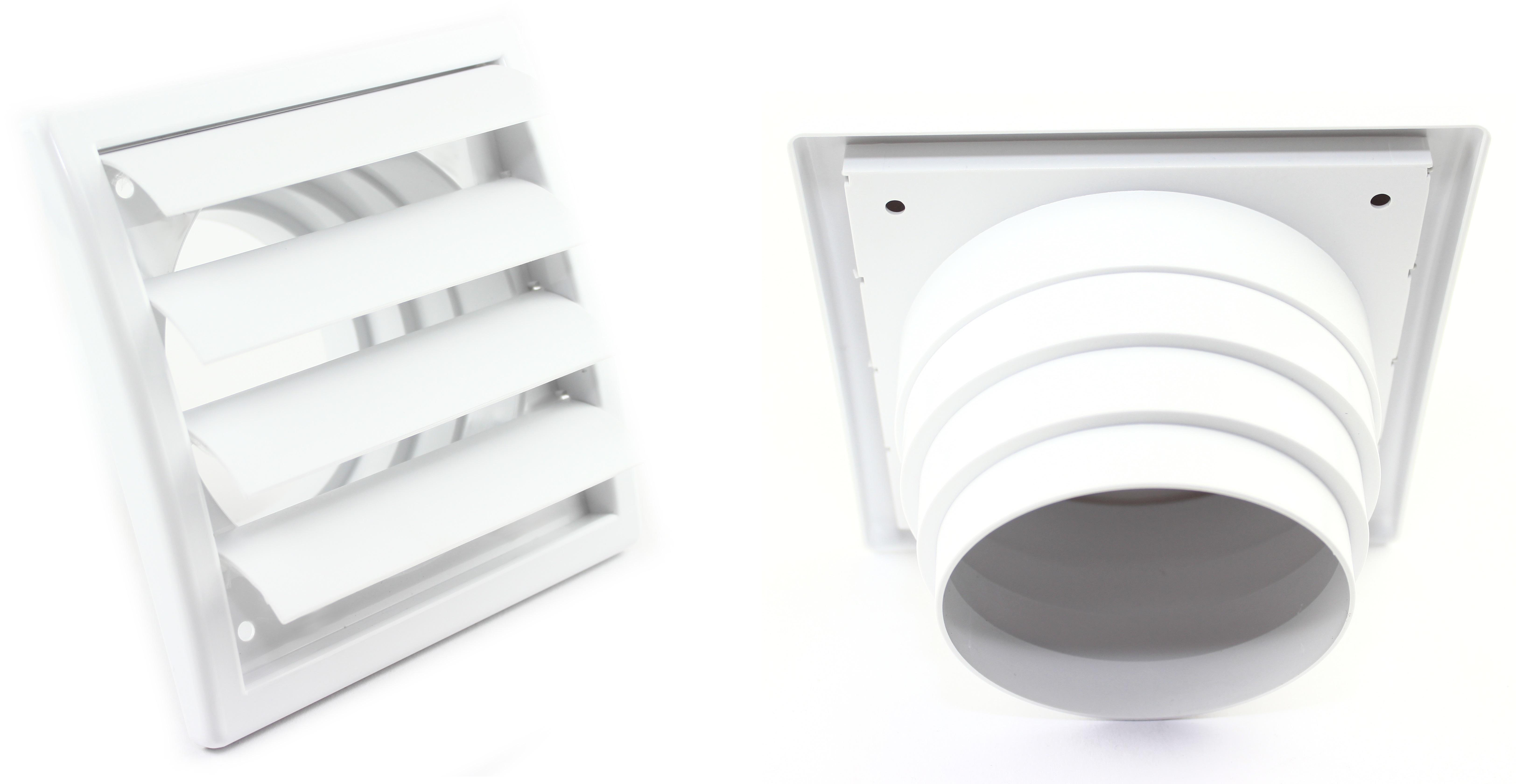 Kunststoff Lüftungsgitter Mit Lamellen In Weiß