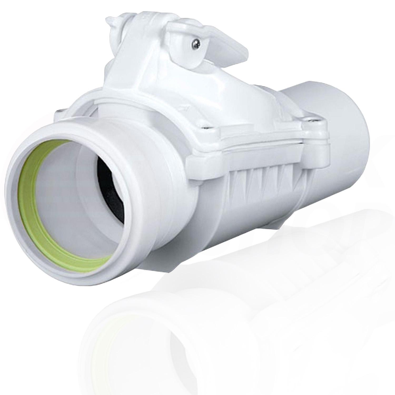 Rückstauverschluss Rückstauklappe DN 50 mm weiß grau  ~ Waschbecken Rohr
